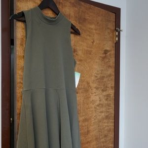 NWT OLIVE GREEN FLIRTY SKATER DRESS XL